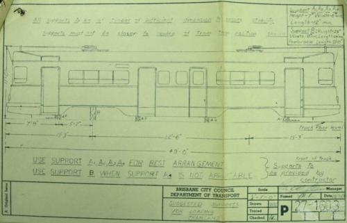 Suggested supports for loading tramcars, 1969