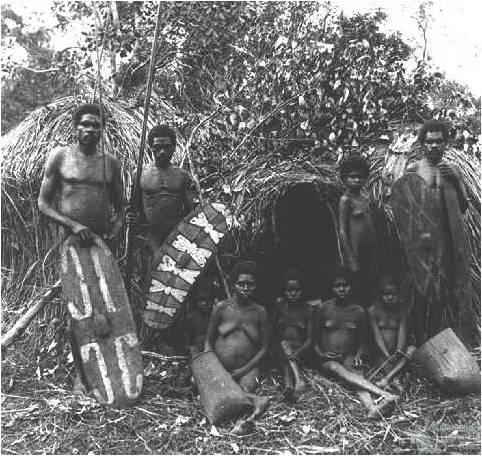 Rainforest Aboriginal people, c1890