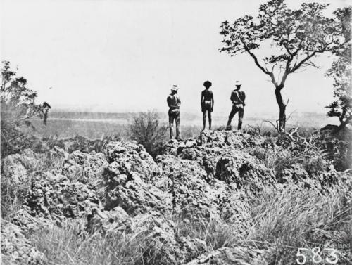 Native Police looking over country, 1860s