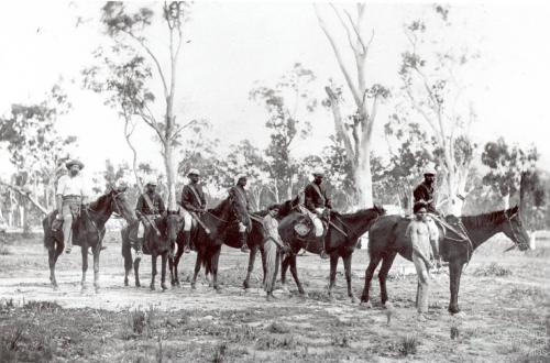Cape York Peninsula Native Police patrol, c1900