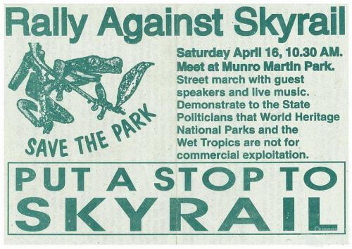Rally against Skyrail, 1994