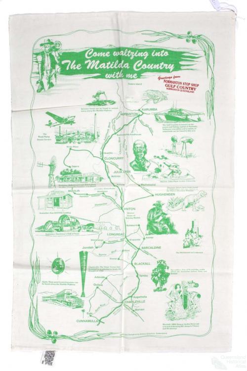 Tea-towel: Matilda Country, 1989