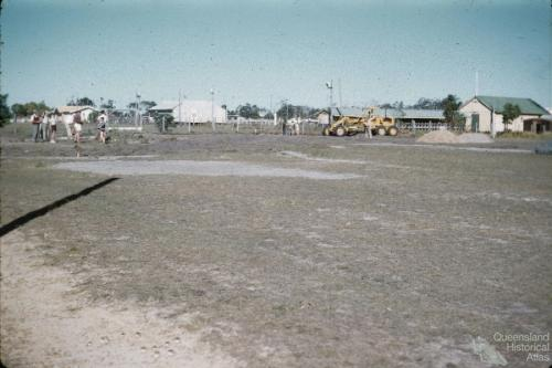Redcliffe tennis courts working bee, 1960