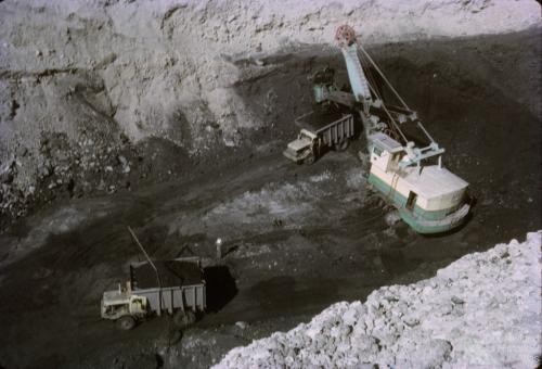 Open cut coal, Moura, 1965