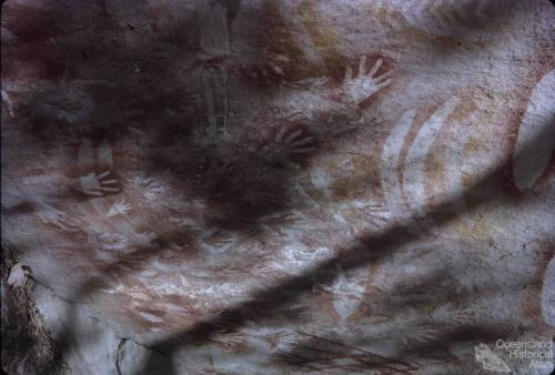 Aboriginal paintings, Carnarvon National Park, 1965