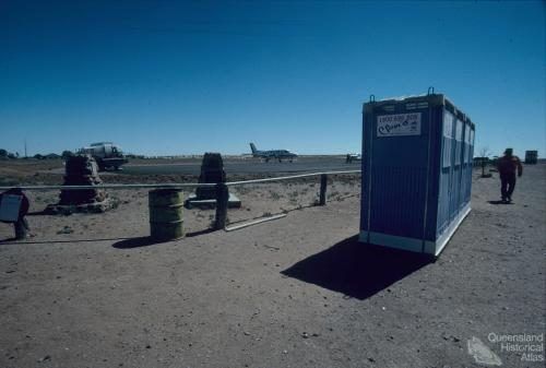 Birdsville airstrip with toilets, 1995