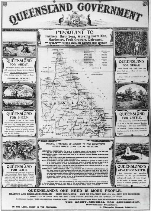Queensland Government immigration poster, c1891