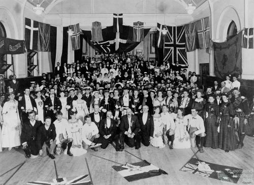 Scandinavian masquerade ball, South Brisbane Town Hall, c1906