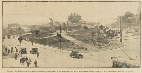 Centenary Park and Byrnes statue, 1927