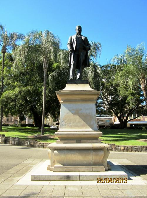 Byrnes statue, Centenary Place, 2013
