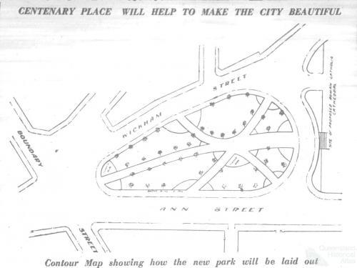 Centenary Park proposal, 1924