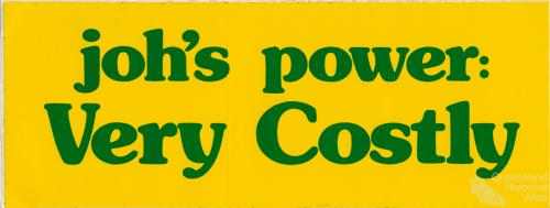 Joh's power: very costly, c1978