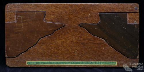 Timber souvenir bookcase, 1958