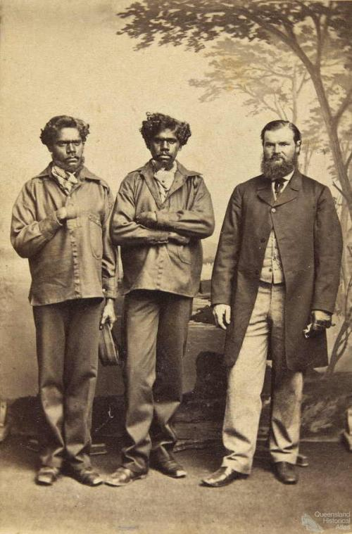 William Landsborough with Jemmy and Jack Fisherman, 1862