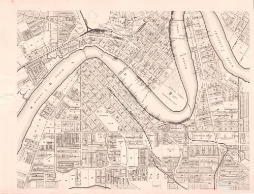 Brisbane River and inner city, 1895