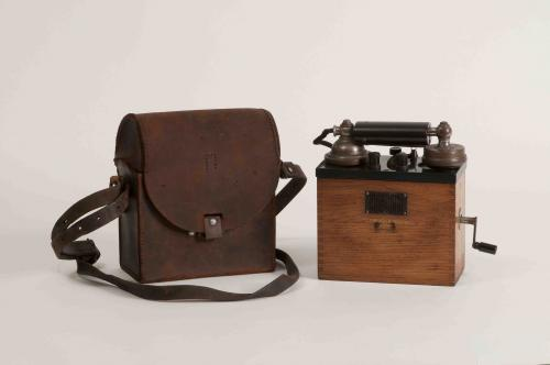 Portable telephone and case
