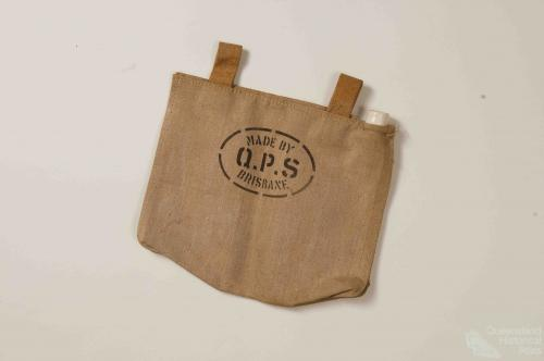Canvas water bag, c1960s
