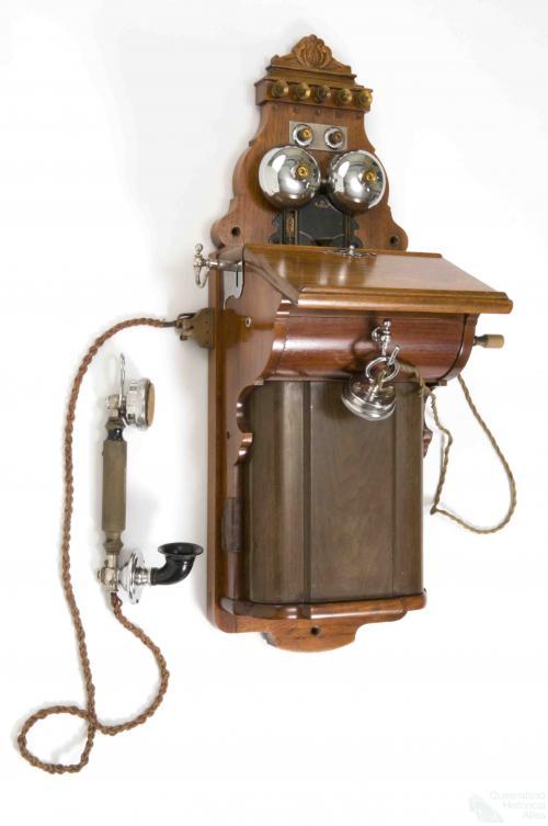 Wall telephone, 1908