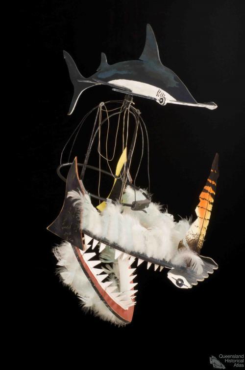 Shark dance headdress, 1989