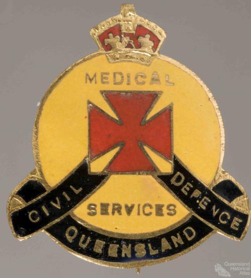 Civil Defence badge, Medical Services