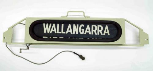 Railways destination roll, Wallangarra