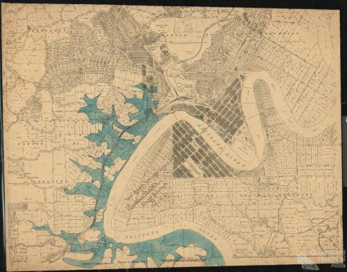 Brisbane flood, left bank, 1893