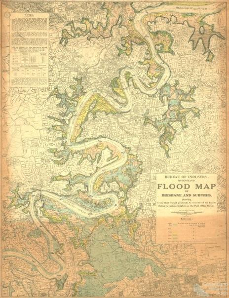Brisbane flood prediction map, 1933