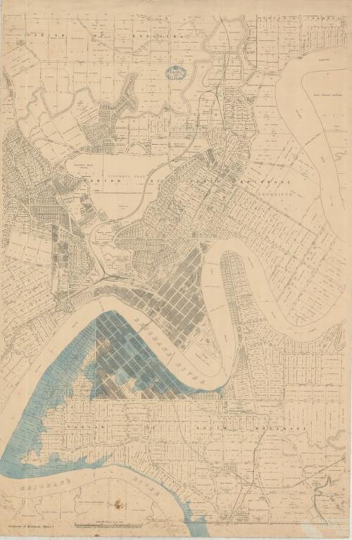 Brisbane flood, right bank, 1893