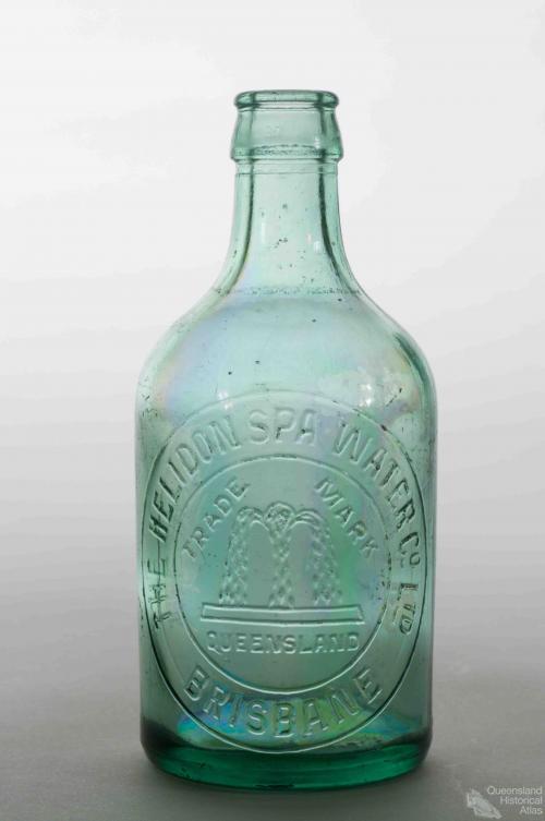 Glass bottle, Helidon Spa