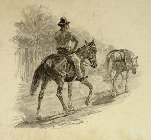 Chinese milkman, Cooktown, 1886