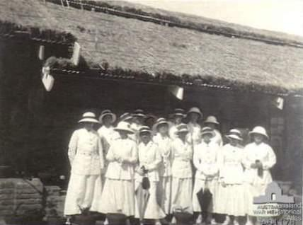 Queensland and Victorian nurses at Poona, India, 1918