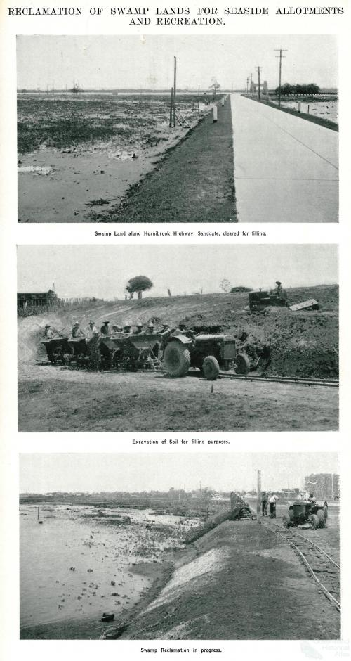 Land reclamation for seaside allotments and recreation, Sandgate, 1937