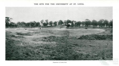 Preparation of cricket oval, St Lucia, 1937