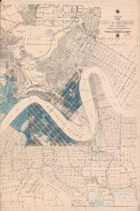 Flood Map City of Brisbane, 1893
