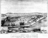 Bird's eye view, Queensland Exhibition, 1876