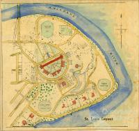 St Lucia layout, c1950