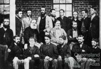 Augustus Gregory with staff of the Surveyor General's Office, Queensland