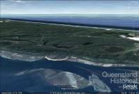Sand-slide Stradbroke Island that occurred in 1980, Google map, 2010