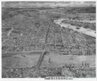 Brisbane Oblique View, 1888