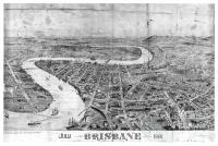Brisbane Oblique View, 1881