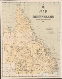 Cobb & Co routes, Queensland 1885