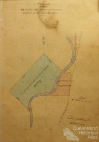 Native Police Barracks, near Bowen, 1863