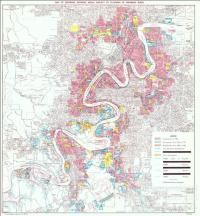 Map of Brisbane showing areas subject to flooding by Brisbane River, 1971
