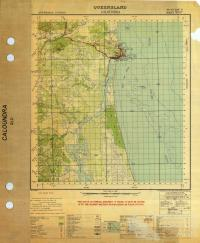 Caloundra military map, 1942