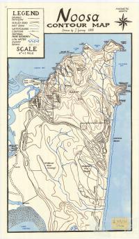 Noosa Contour Map, 1966
