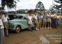 Junior farmer visit to Cherbourg, 1957