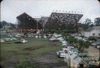 Temporary tennis stands, Davis Cup, Milton, 1956