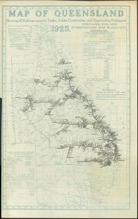 Extent of the Queensland Railway network in 1925