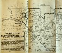 Location plan, Mt Etna Fertilisers, 1924