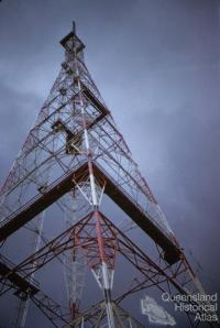 ABC TV transmitter tower, Mount Coot-tha, 1959